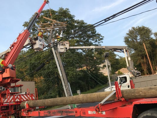 Wanaque accident utility poles down