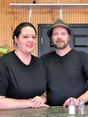 Derek Galyon, the new owner of GruJo's, with his wife,