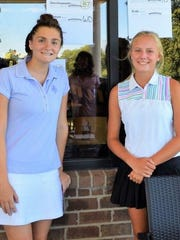 Andrea Davis of Highland (right) captured the victory at Whispering Willows Junior Open.  Makayla Snyder of Huntington Woods shot 115 in her first-ever 18-hole round and took fourth place.