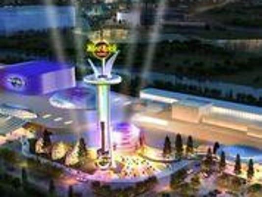 Artist rendering of proposed Hard Rock Meadowlands Casino