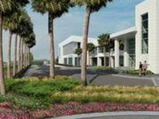Rendering of University of Southern Mississippi's $10 million Marine Research Center at the Port of Gulfport, set to be completed 2018.