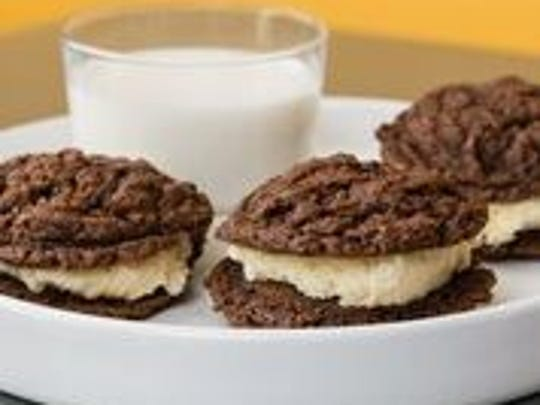 Chocolate cookies and milk from CWC, the restaurant in Wyoming.
