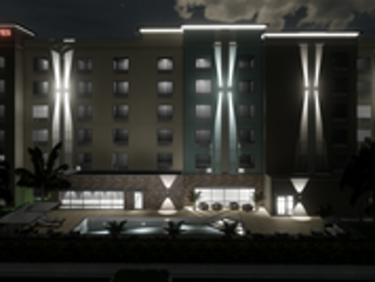 Rendering of TownePlace Suites in Naples.