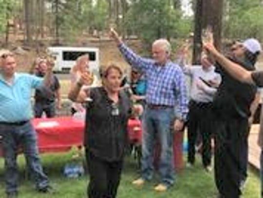 Ruidoso Village Manager Debi Lee and Mayor Lynn Crawford