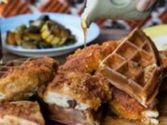 Marcus Samuelson's Chicken and Waffles served at Marcus
