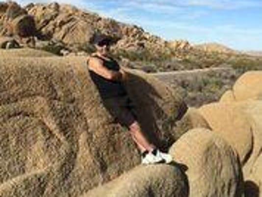Paul Rodgers in desert