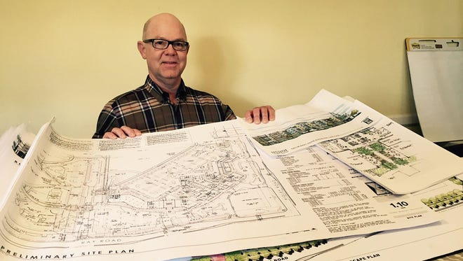 Gilbert visionary and developer Joe Johnston lays out his project, Agritopia Epicenter.