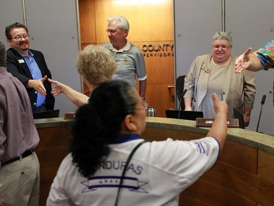 Local community members thank Johnson County supervisors