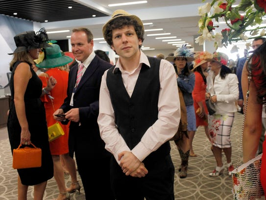 Actor Jesse Eisenberg poses for a photo at the 143rd