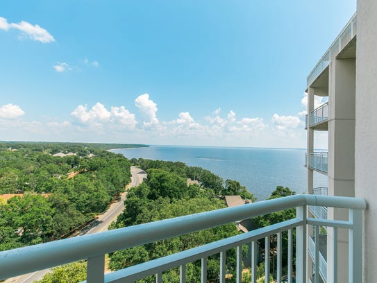1700 Scenic Highway Apt. 902, a balcony view.