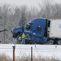 Minnesota State Patrol Sgt. Jesse Grabow tweeted a photo of an accident on Interstate Highway 94 near Clearwater.