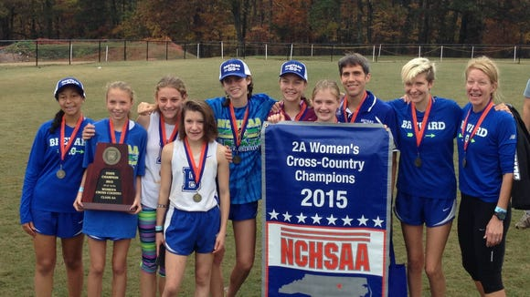 The Brevard girls cross country team won the NCHSAA 2-A championship on Saturday in Kernersville.