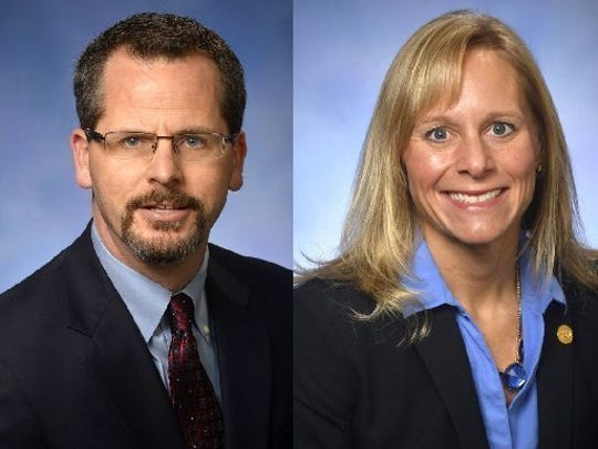 Former state representatives Todd Courser and Cindy Gamrat