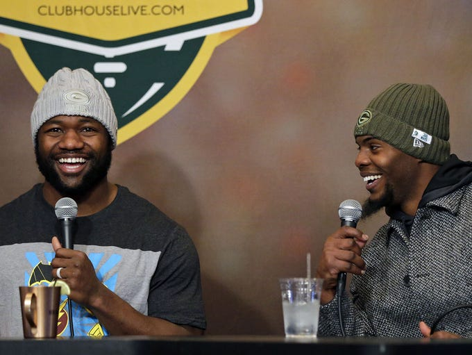 Ty Montgomery of the Green Bay Packers and co-host