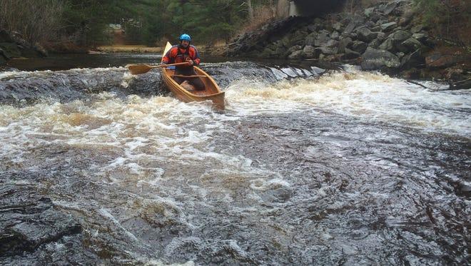 Steve Meurett paddling Robinson Creek