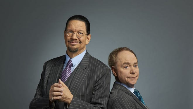 Penn and Teller are magicians/entertainers who have been together since the 1970s. They have an unmistakable style that combines magic, comedy and audience interaction.