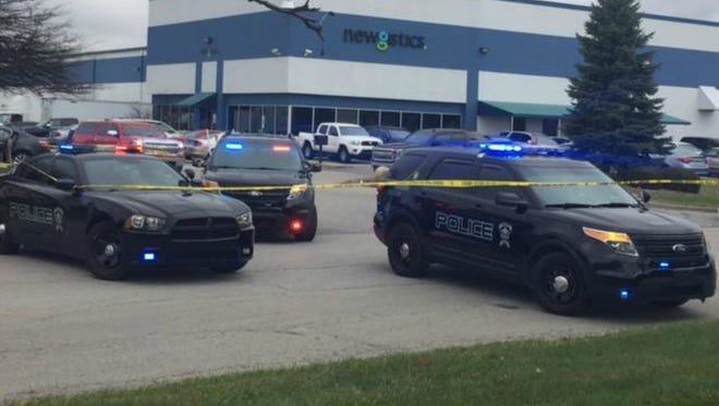 Fishers police responded to a call of shots fired Wednesday at Newgistics.
