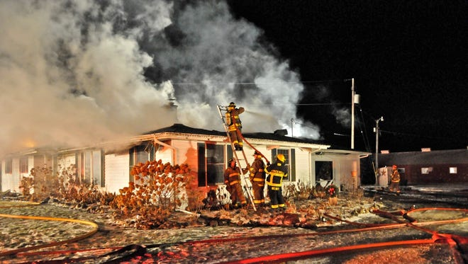The Schweiner family home near Denmark was destroyed by fire on Dec. 17.