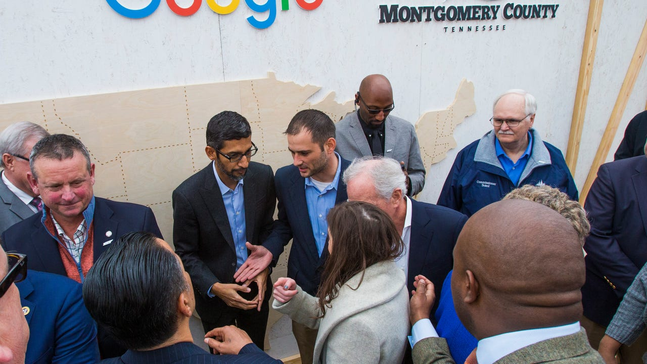 Google formally broke ground Feb. 16, 2018, on its planned $600 million data center near Clarksville. The Clarksville data center will employ about 1,000 people in construction and 70 in permanent tech positions.