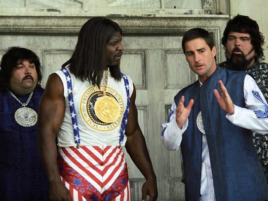 Terry Crews (center left) and Luke Wilson (center right)