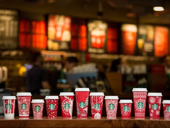 Starbucks red holiday cups feature 13 designs from