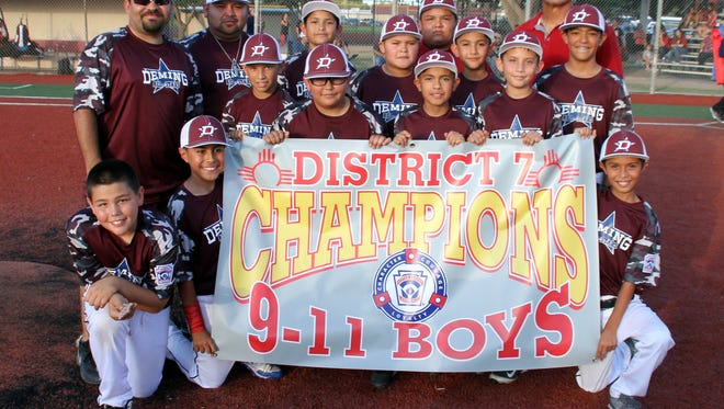 The Deming Major Division (ages 9-11) All Stars captured the New Mexico District 7 Little League Championship and are now headed to Albuquerque for state tournament action on July 15-17 and 22-24.