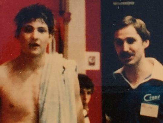 Damon McCoy with coach Butch Jordan