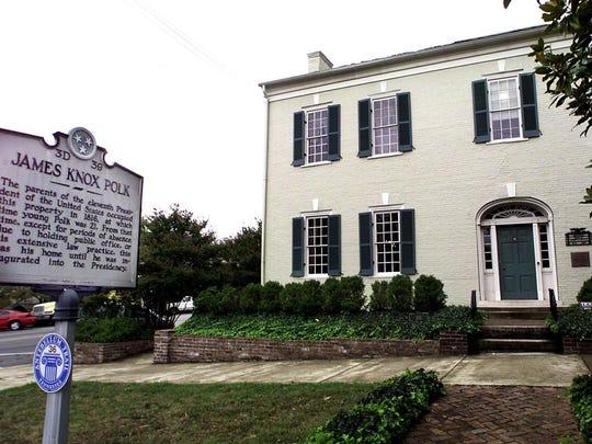 James K, Polk Home in Columbia, Tenn.