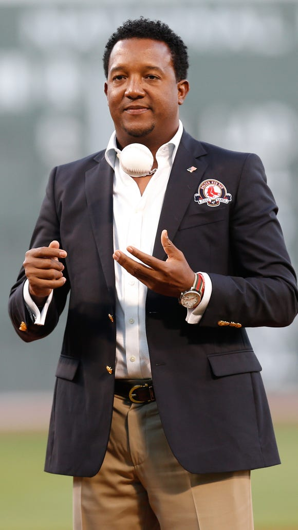 Pedro Martinez was inducted into the Red Sox Hall of