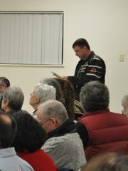 Alternative Waste Services owner Bob Mente, of Bishop Road, addressed the Newfield Town Board before its Feb. 12 approval of a solid waste facilities ban. Mente said his company received permits as a solid waste management facility on Jan. 6 and will move forward with the construction of his transfer station in the near future.