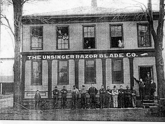 The Unsinger Razor Blade Company, seen here in the early 1900s, was one of about 50 different companies in Fremont that at one time produced cutlery items.