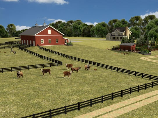 A rendering shows what the Agape Agrihood might look