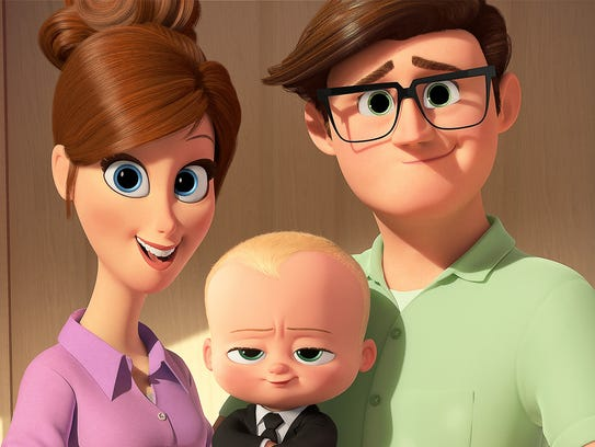 A suit-wearing baby (voiced by Alec Baldwin) aims to