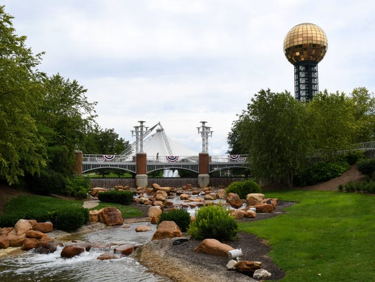 The Sunsphere and the Tennessee Amphitheater at the
