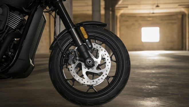 Harley-Davidson's Street Rod has anti-lock brakes as standard equipment.