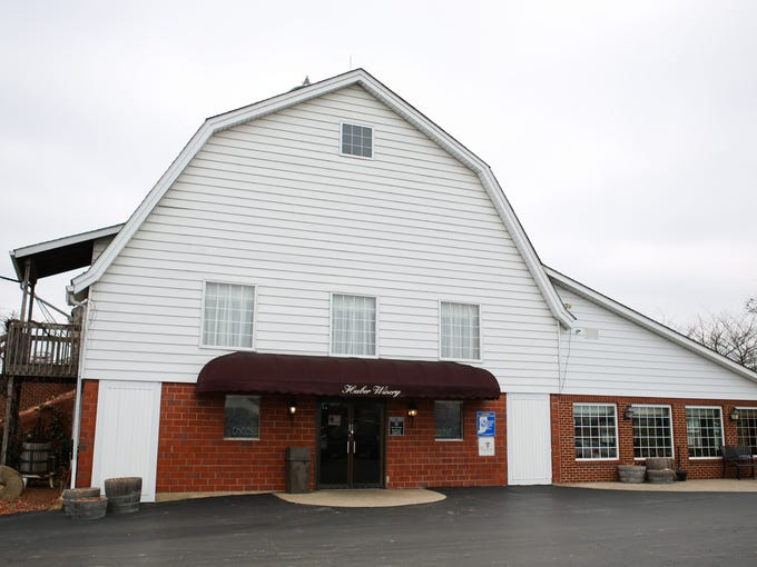 The exterior of the Huber's Farm winery and gift shop. March 18, 2014