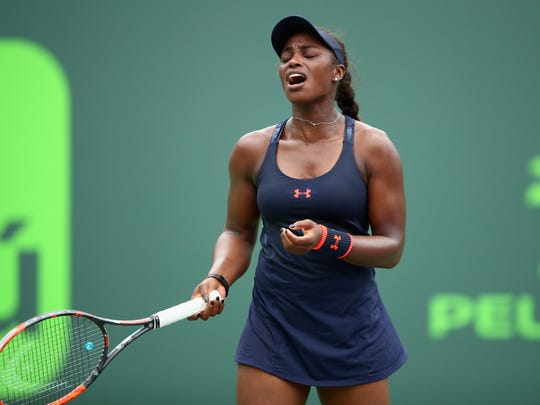 KEY BISCAYNE, FL - MARCH 24:  Sloane Stephens of the