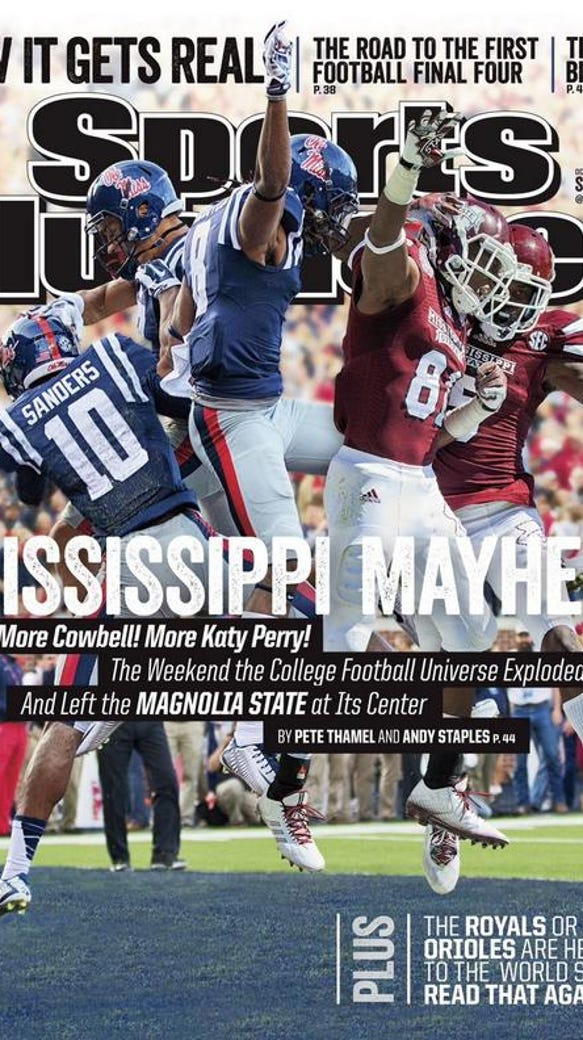 Mississippi State and Ole Miss Sports Illustrated cover
