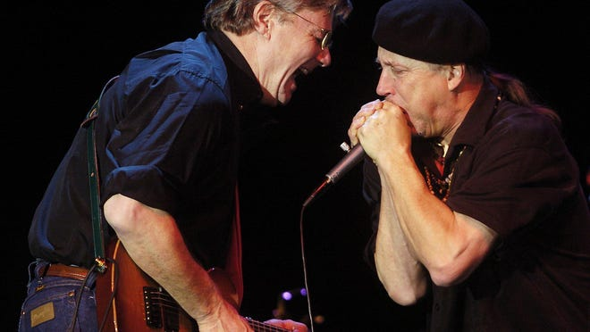 Steve Miller, shown jamming with harmonica great Norton Buffalo (right), will perform Friday at The Show in Rancho Mirage.