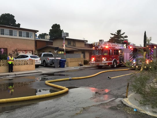 El Paso firefighters Wednesday afternoon battled a