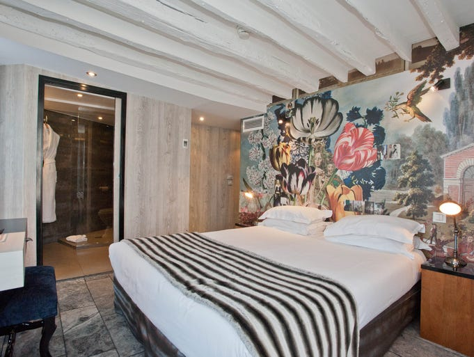 One of the most important brand names a hotel can boast is that of its designer. A famous name such as Philippe Starck can help ensure a hotel's hot-spot status, so new properties are wise to invest heavily in their interior style. These nine hotels are some of the most devastatingly stylish we've found anywhere. Hotel Le Notre Dame, Paris: Many guests choose this charming boutique hotel for its proximity to Notre Dame Cathedral, which is a two-minute walk away. But this hotel is notable for more than its location: Its 26 funky, eclectic rooms were designed by none other than fashion powerhouse Christian LaCroix. They feature bold patterns and prints, as well as natural materials such as wood and stone.
