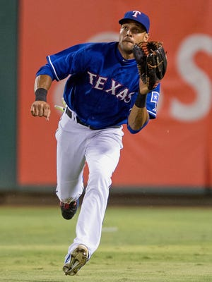 Alex Rios would take over in right field from Nori Aoki, who became a free agent.