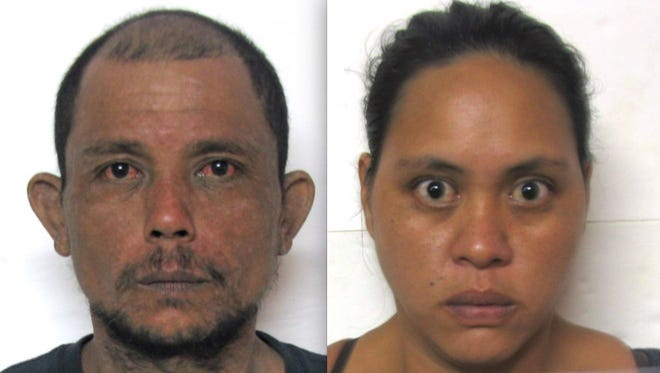 Joseph Ricky Leon Guerrero, left, and Thelma Rose Duenas Quinata are shown in this combined photo.