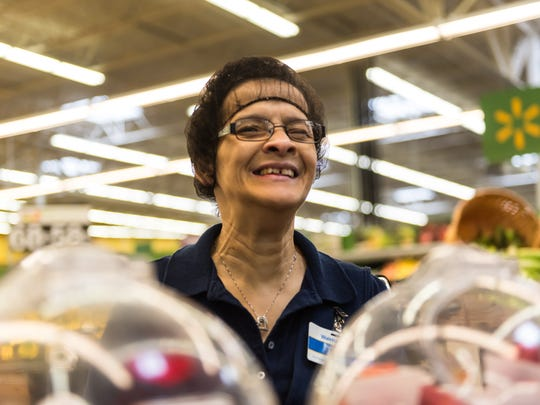 Tina Lopez waits for customers to great and serve fresh