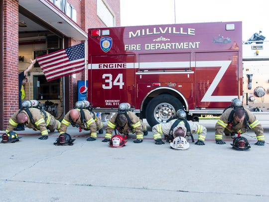 The Millville Fire Department takes part in the 22
