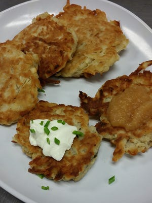 Hart's Local Grocers sells latkes at its prepared foods case.