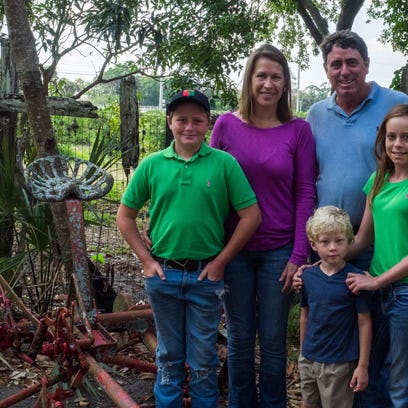 Eric & Tiffany Barkwell, along with their children