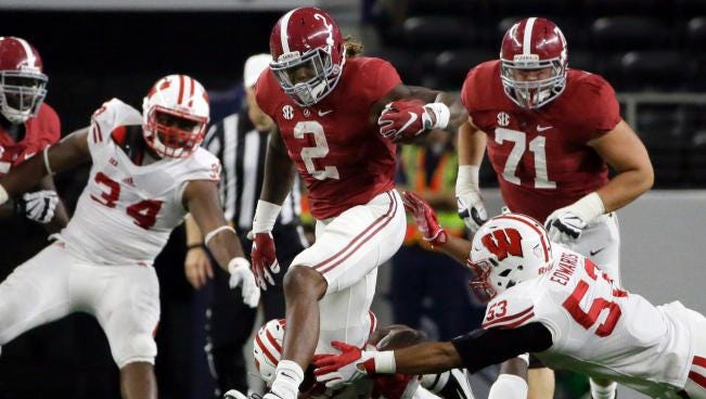 Derrick Henry rushed for a career-high 147 yards and three touchdowns in last week's 35-17 win over Wisconsin.