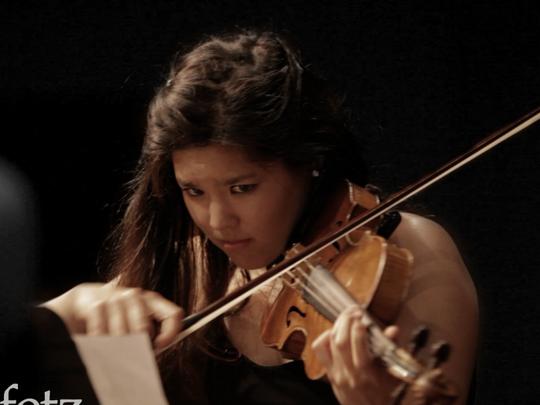 Violinist Rachell Wong, a 2015 Heifetz Institute alumna