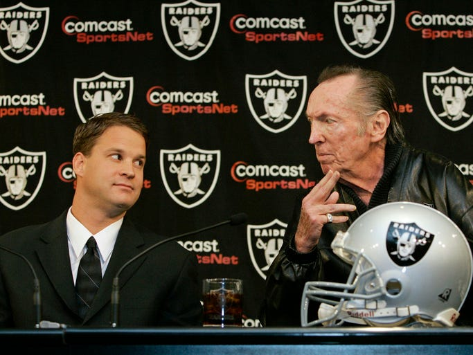 """Fired by the Oakland Raiders (Oct. 1, 2008): Kiffin was fired by then-Raiders owner Al Davis, who called Kiffin a """"flat-out liar"""" and cited the """"propaganda"""" and lying"""" that had been going on for """"weeks and months and a year and time."""" Kiffin was four games into his second season with the Raiders when he was fired."""